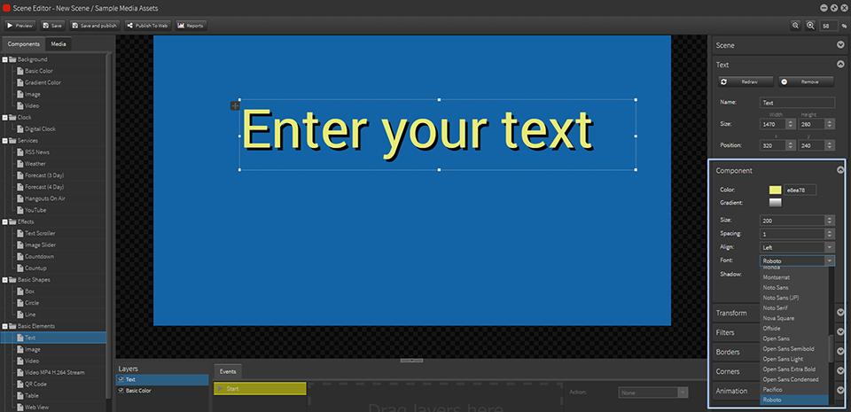 AdvSet_Text options